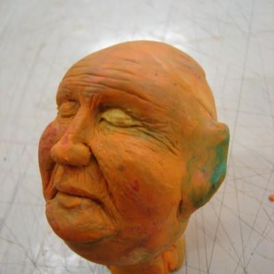 experimento em plastilina  tipo: Marionete tamanho: 07 cm