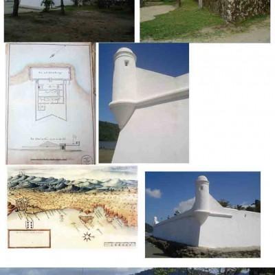 Imagens de referencia do forte de Bertioga