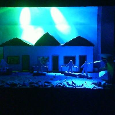 Maquete espetáculo em fase de pesquisas do grupo de teatro dos aprendizes